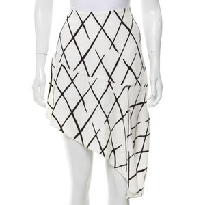 Balenciaga Asymmetrical Black & White Skirt